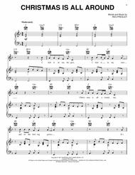 Christmas Is All Around.Download Christmas Is All Around Sheet Music By Billy Mack