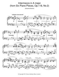 Intermezzo In A Major Op. 118 No. 2