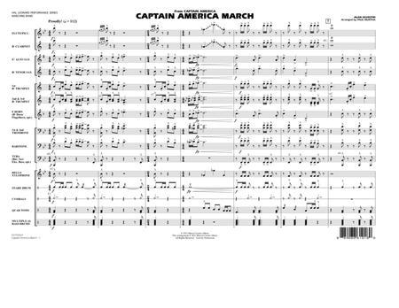 Captain America March - Full Score