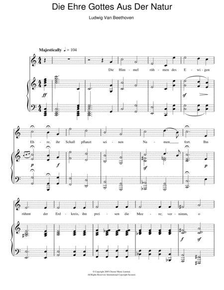 Die Ehre Gottes Aus Der Natur Op.48 No.4