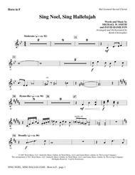Sing Noel, Sing Hallelujah - F Horn