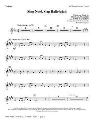 Sing Noel, Sing Hallelujah - Violin 1