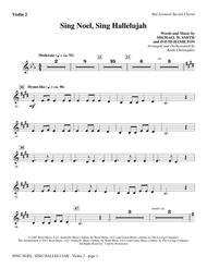 Sing Noel, Sing Hallelujah - Violin 2