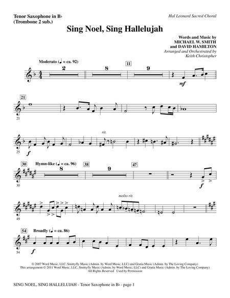 Sing Noel, Sing Hallelujah - Tenor Sax (sub. Tbn 2)