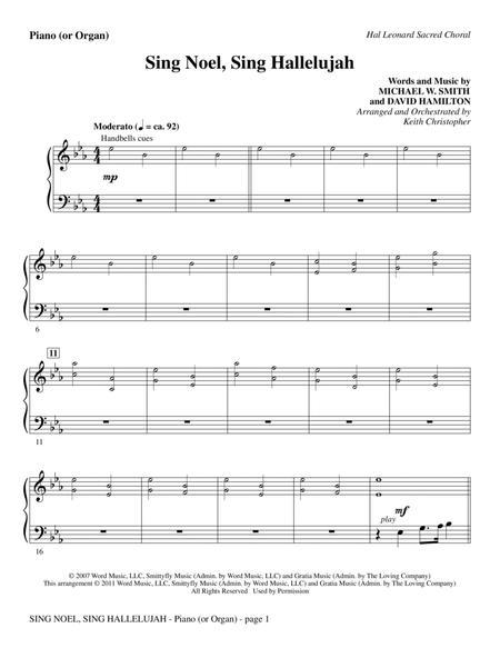 Sing Noel, Sing Hallelujah - Piano or Organ
