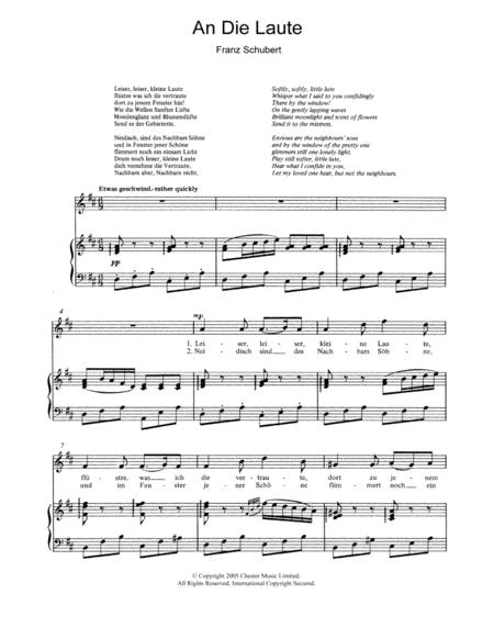 An Die Laute (To The Lute) Op.81 No.2