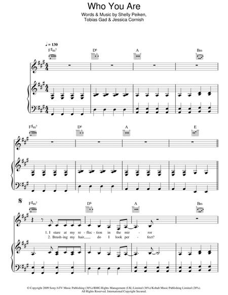 Download Who You Are Sheet Music By Jessie J - Sheet Music Plus
