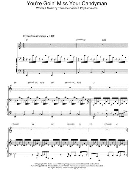 Download You Goin Miss Your Candyman Sheet Music By Terry Callier