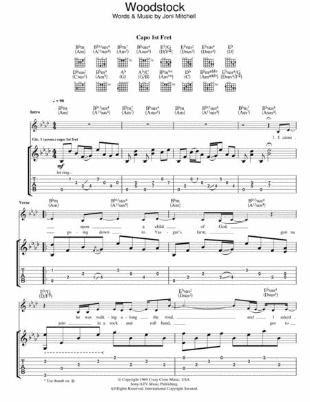 Download Woodstock Sheet Music Sheet Music Plus