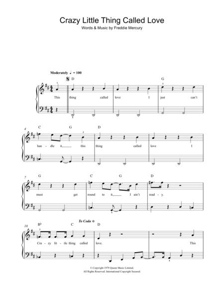 Download Crazy Little Thing Called Love Sheet Music By Queen - Sheet ...
