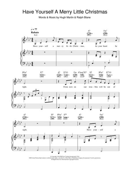 Download Have Yourself A Merry Little Christmas Sheet Music By Frank