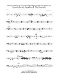 Concerto For Alto Saxophone And Wind Ensemble - Bassoon