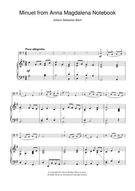 Download Minuet In G Major (from The Anna Magdalena Notebook) Sheet ...