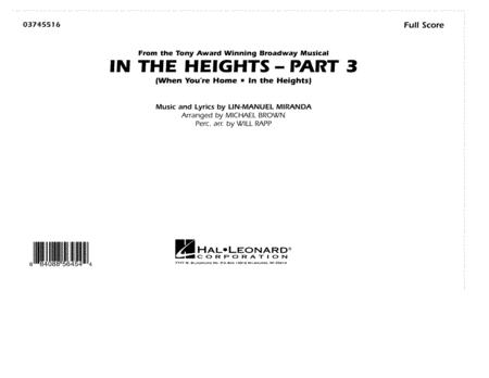 In The Heights: Part 3 - Full Score