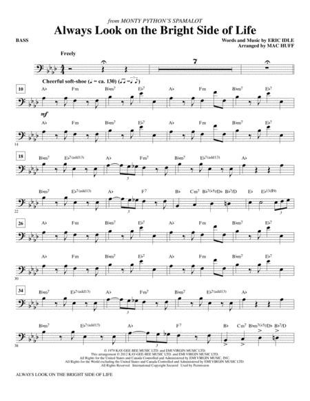 Download Always Look On The Bright Side Of Life Bass Sheet Music