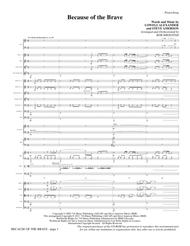 Because Of The Brave - Full Score