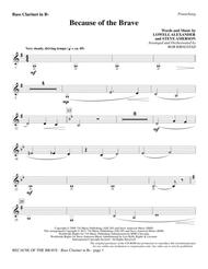 Because Of The Brave - Bass Clarinet