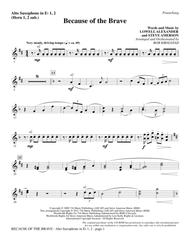 Because Of The Brave - Alto Sax 1-2 (sub. Horn 1-2)