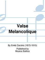 Valse Melancolique