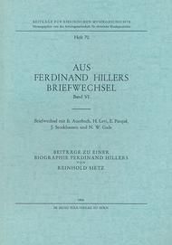 Aus Ferdinand Hillers Briefwechsel Band VI