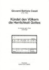 Kundet den Volkern die Herrlichkeit Gottes fur dreistimmigen gemischten Chor und Orgel
