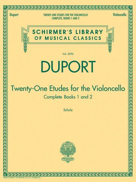 Duport - 21 Etudes for the Violoncello, Complete Books 1 & 2