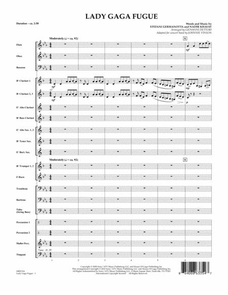 Lady Gaga Fugue - Full Score