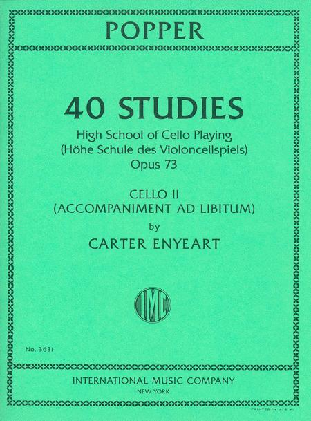 40 Studies: High School of Cello Playing, Opus 73
