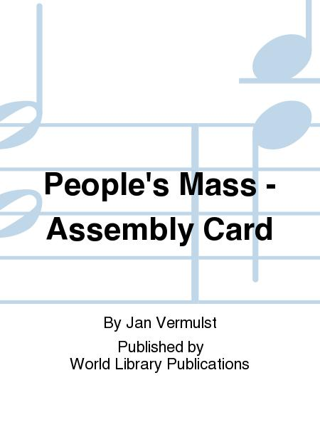 People's Mass - Assembly Card