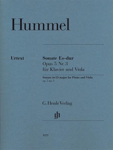 Sonata for Piano and Viola in E-flat Major, Op. 5, No. 3