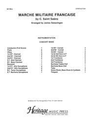 Marche Militaire Francaise Conductor's Score