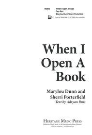 When I Open a Book