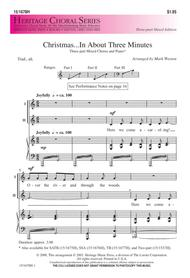 Christmas In About Three Minutes.Download Christmas In About Three Minutes Sheet Music By