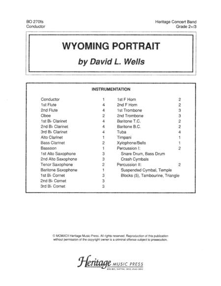 Wyoming Portrait Full Score