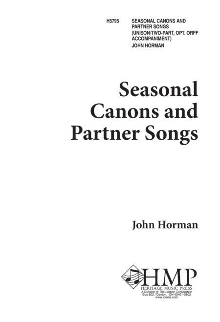 Seasonal Canons and Partner Songs