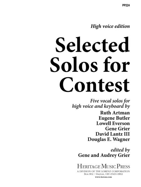 Selected Solos for Contest - High Voice