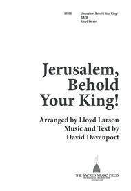 Jerusalem Behold Your King