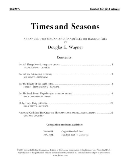 Times and Seasons - Reproducible Handbell Part (2-3 oct)