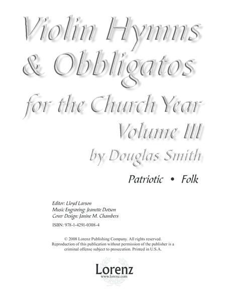 Violin Hymns & Obbligatos, Vol. 3