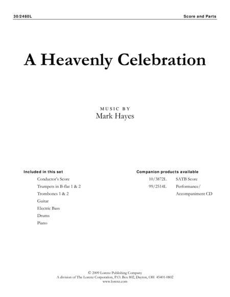 A Heavenly Celebration - Brass and Rhythm Score and Parts