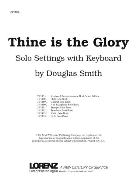Thine Is the Glory - Keyboard