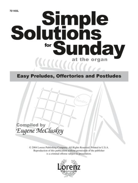 Simple Solutions for Sunday at the Organ