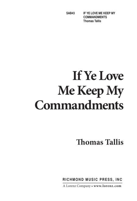 If Ye Love Me, Keep My Commandments - SAB