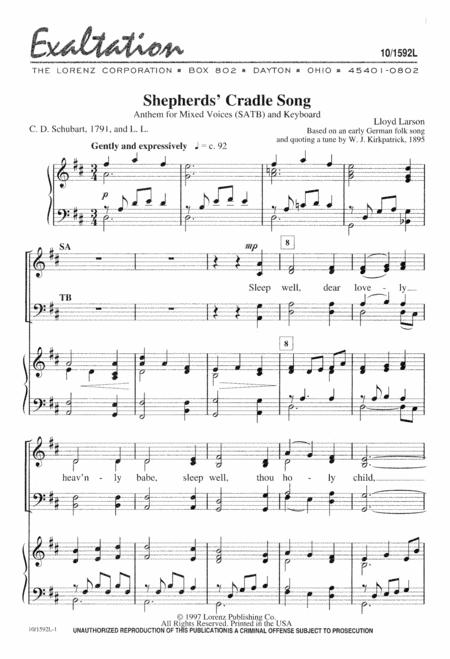 Shepherds' Cradle Song