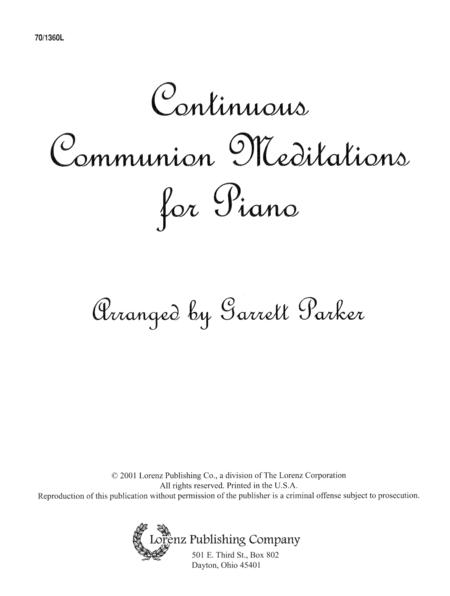Continuous Communion Meditations for Piano