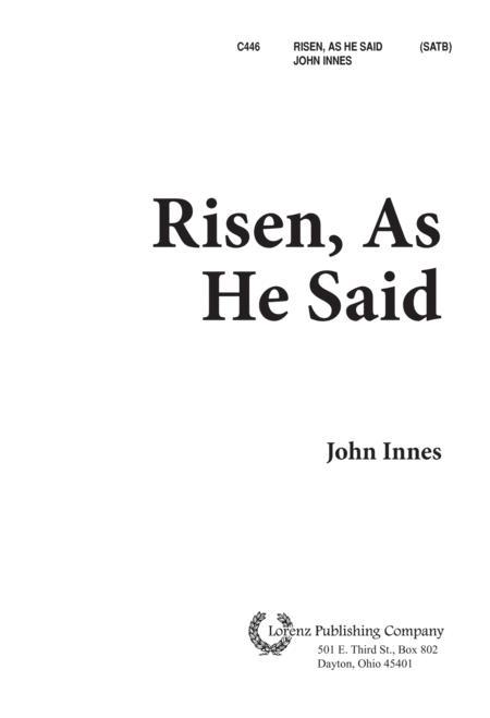 Risen, As He Said