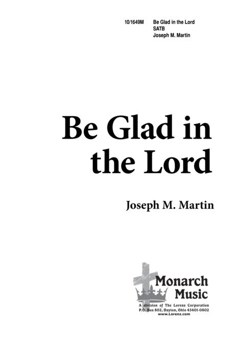 Be Glad in the Lord