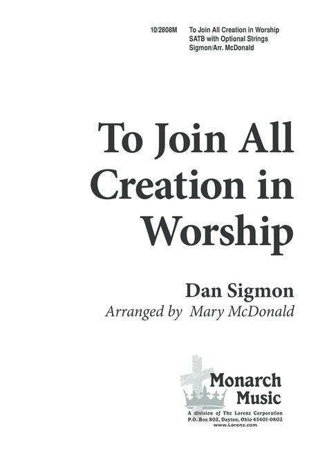 To Join All Creation in Worship