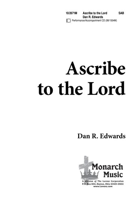 Ascribe to the Lord