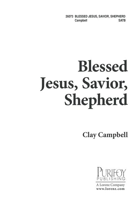 Blessed Jesus, Savior Shepherd